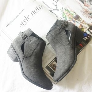NWOT faux leather booties